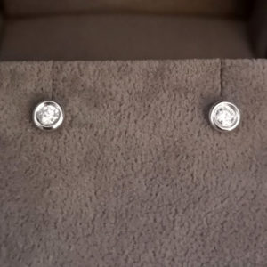 0.15 Carat Rub-Over Diamond Stud Earrings