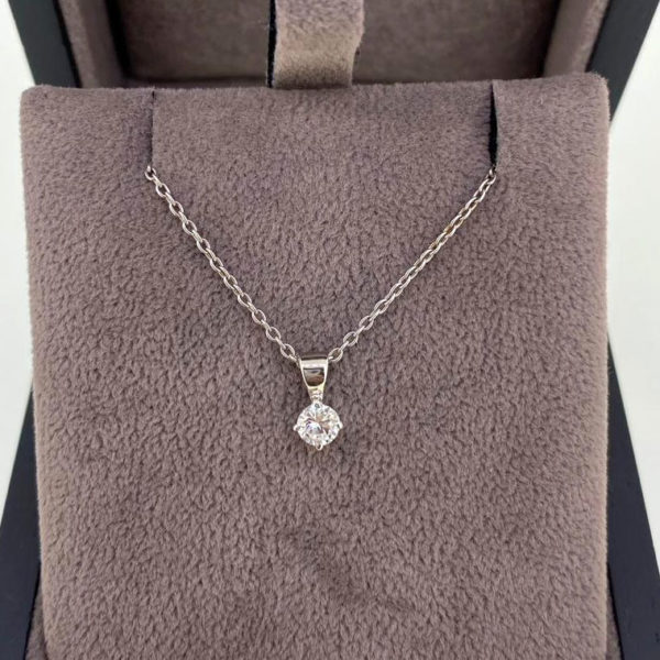 0.19 Carat Diamond Pendant & Chain