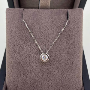 0.26 Carat Diamond Rub-Over Pendant & Chain