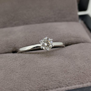 0.30 Carat Round Brilliant Cut Diamond Solitaire Ring - Made to Order