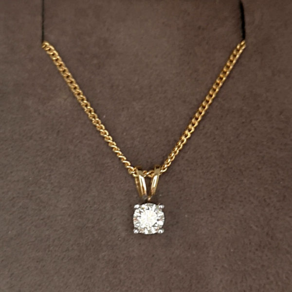 0.33 Carat Diamond Pendant & Chain
