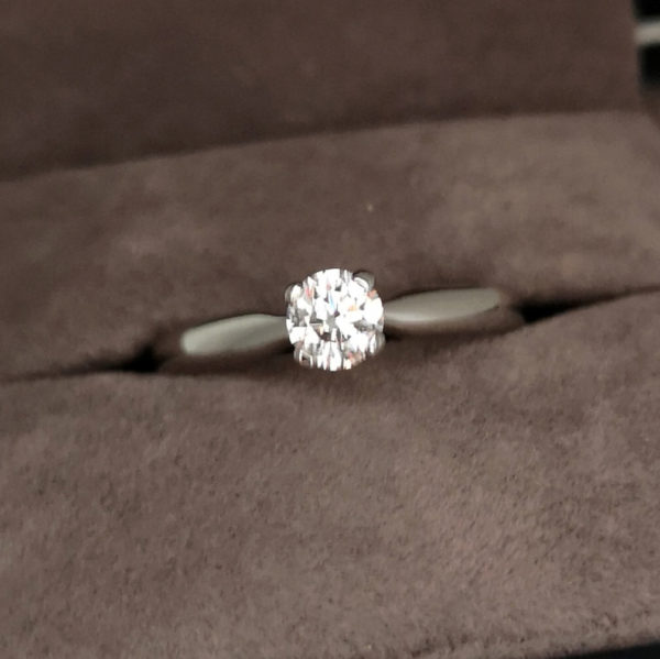 0.36 Carat Round Brilliant Cut Diamond Solitaire Ring