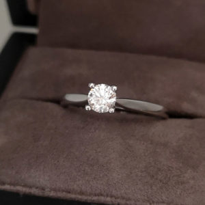 0.40 Carat 'Tulip' Round Brilliant Cut Diamond Solitaire Ring in Platinum
