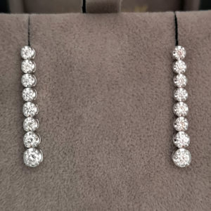 0.50 Carat Diamond Line Graduated Drop Earrings