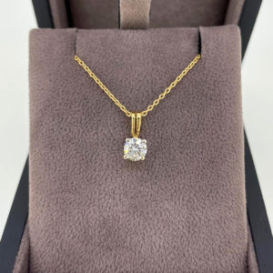 0.52 Carat Diamond Pendant & Chain