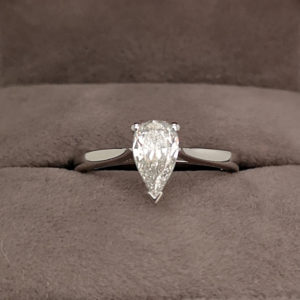 0.60 Carat Pear Shaped Diamond Engagement Ring