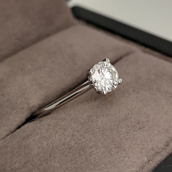 0.60 Carat Round Brilliant Cut Diamond Solitaire Ring