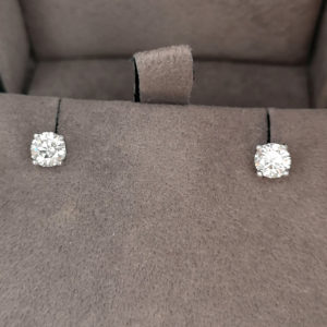 0.81 Carat Diamond Stud Earrings (Made to Order)
