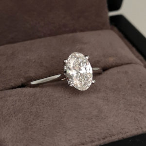 1.05 Carat Oval Cut Diamond Solitaire Ring