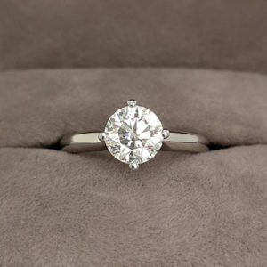 1.20 Carat Round Brilliant Cut Twist Diamond Solitaire Ring