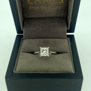 1.35 Carat Princess Cut Diamond Solitaire Ring