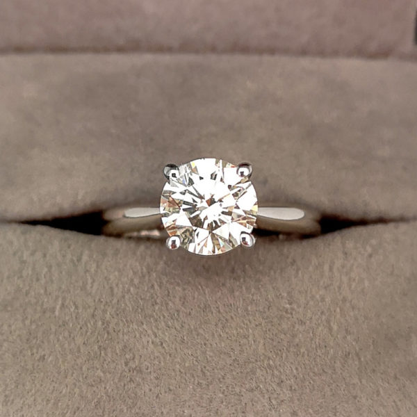 1.65 Carat Round Brilliant Cut Diamond Ring