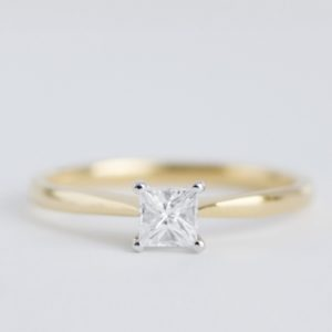 18ct Gold Princess Cut Diamond Solitaire - Made to Order