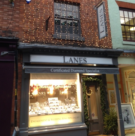 2014 Christmas window display at Lanes Fine Jewellery