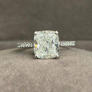 3.25 Carat Diamond Cushion Cut Ring