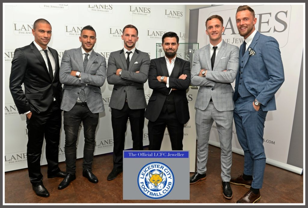 Gokhan Inler, Danny Simpson, Danny Drinkwater, Ercan Onguc, Andy King and Ben Hamer @LCFC @Lanes Fine Jewellery