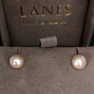 Pink Freshwater Pearl Stud Earrings
