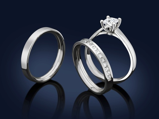 Engagement rings in Leicester, England