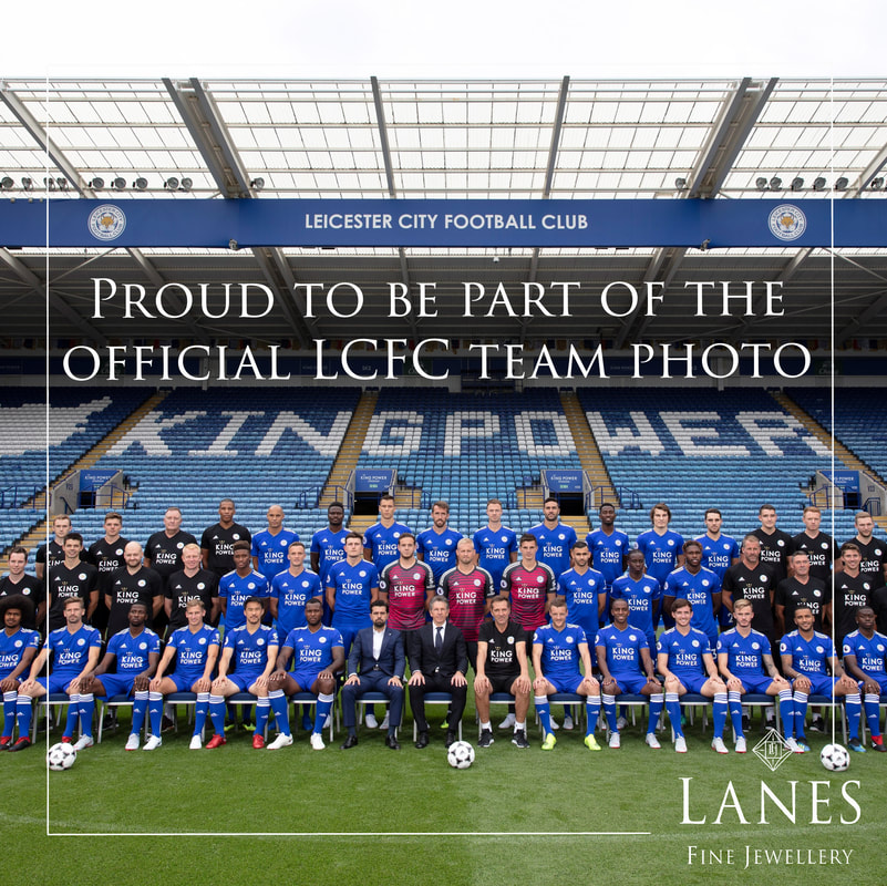 LCFC Team Photo 2018/19 with Lanes Fine Jewellery in Aid of the Foxes Foundation