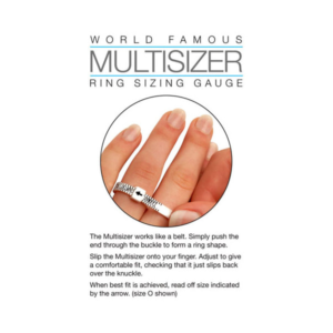 Order a free ring finger sizer from Lanes Jewellers