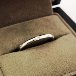 0.11 Carat Platinum Diamond Dot Wedding Band