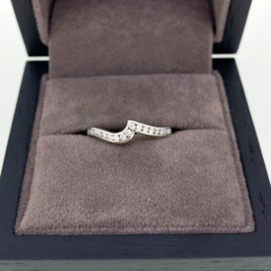 0.22 Carat Channel Half Set Shaped Diamond Band