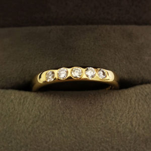 0.23 Carat Yellow Gold Diamond Wedding Band