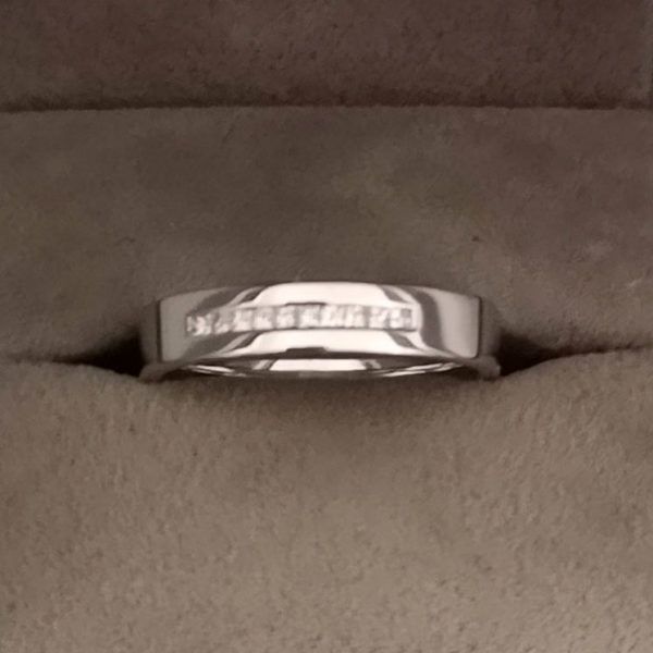 0.24 Carat Platinum Channel Set Diamond Eternity or Wedding Ring