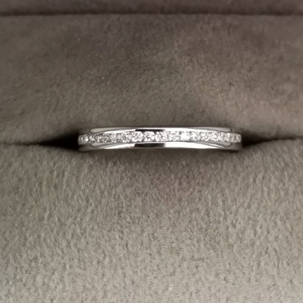 0.30 Carat Channel Set Diamond Eternity Ring in Platinum