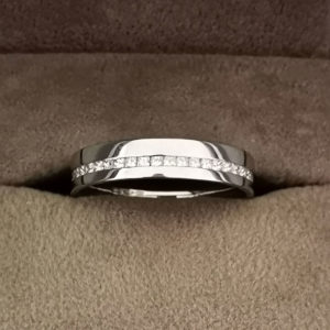 0.38 Carat Half Offset Channel Set Diamond Wedding Ring