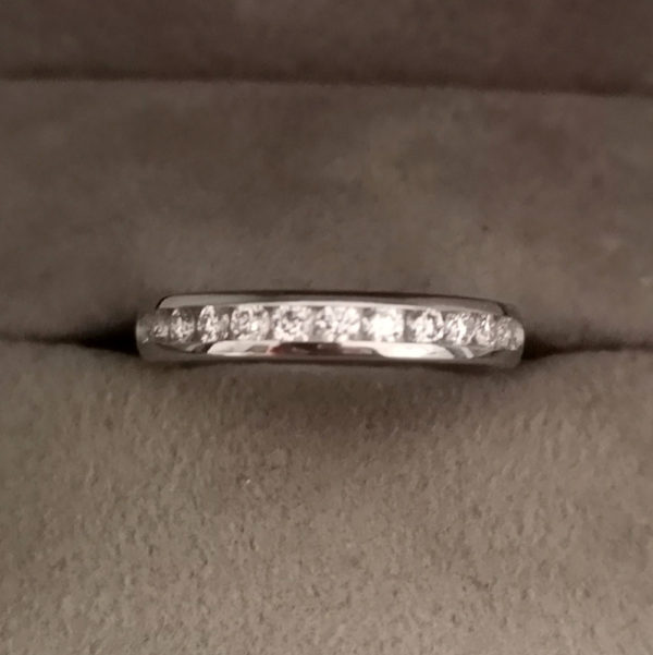 0.45 Carat Channel Set Diamond Eternity Ring in Platinum