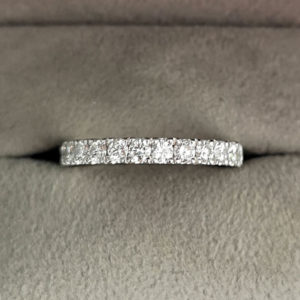0.72 Carat Claw Set Diamond Eternity Ring in Platinum