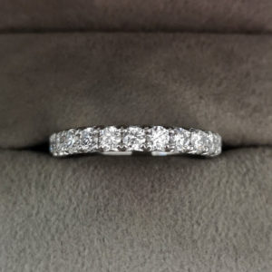 0.79 Carat 'Fish-grain' Set Diamond Eternity Ring in Platinum