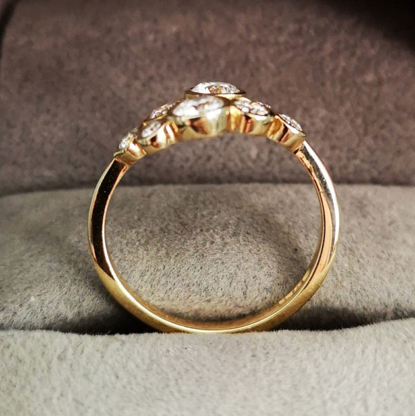 0.85 Carat Diamond Moonshine Ring in Yellow Gold