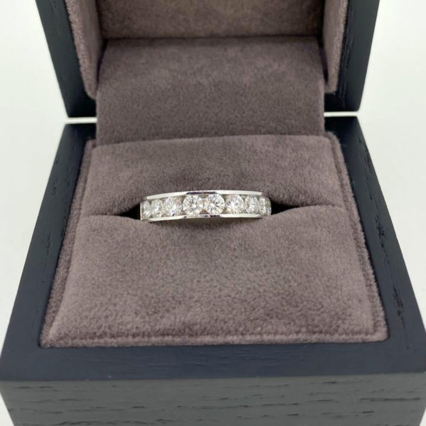 1.00 Carat Channel Set Diamond Eternity Ring in Platinum