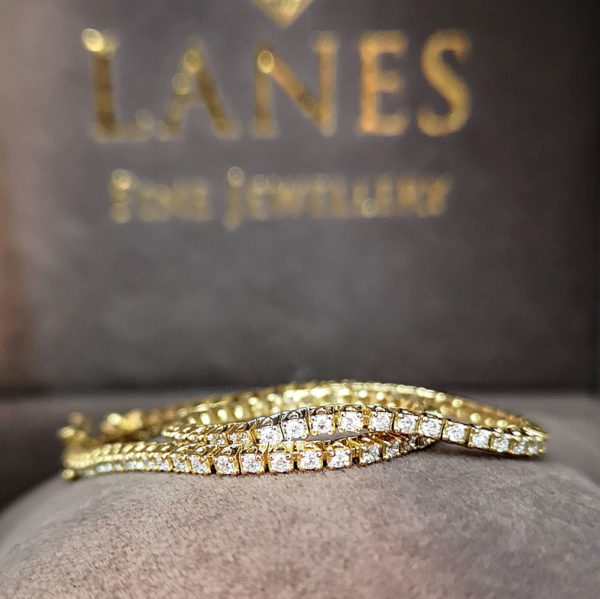 1.00 Carat Diamond Line Bracelet (Yellow Gold)