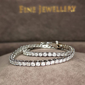 2.15 Carat Diamond Line Bracelet White Gold
