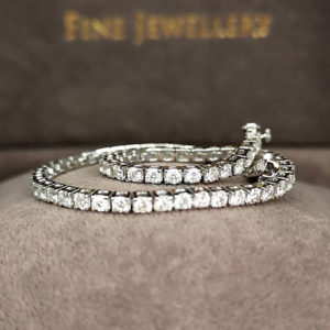 2.25 Carat Diamond Line White Gold Bracelet