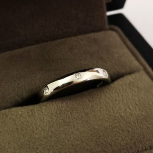 3mm Platinum Diamond Dot Wedding Band