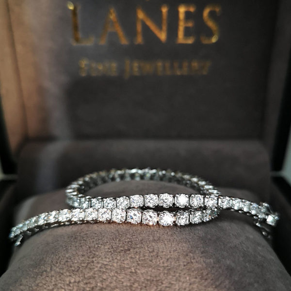 4.00 Carat Diamond Line Bracelet (White Gold)