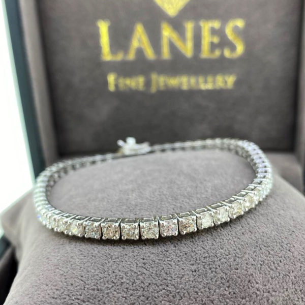 5.70 Carat Diamond Line White Gold Bracelet