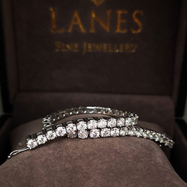 7.52 Carat Diamond Line White Gold Bracelet