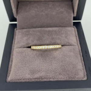 0.24 Carat Half Set Round Cut Diamond Eternity Ring
