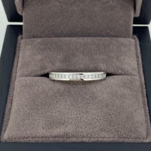 0.25 Carat Half Set Princess Cut Diamond Eternity Ring