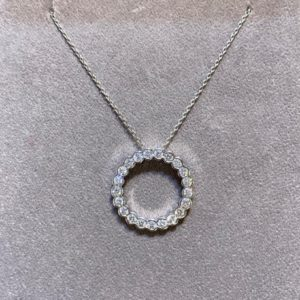 1.00 Carat Medium Diamond Circle Pendant