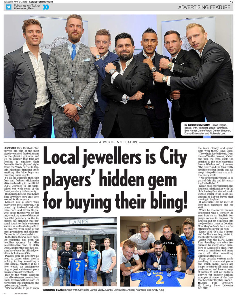 Local jewellers is City players' hidden gem for buying their bling